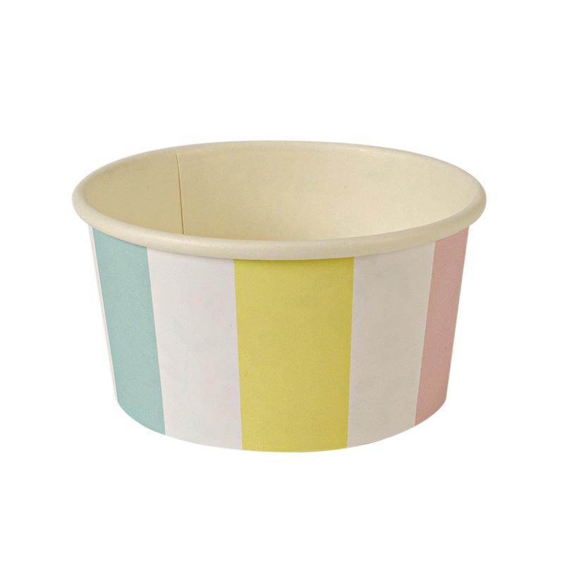 Striped Ice Cream Cups