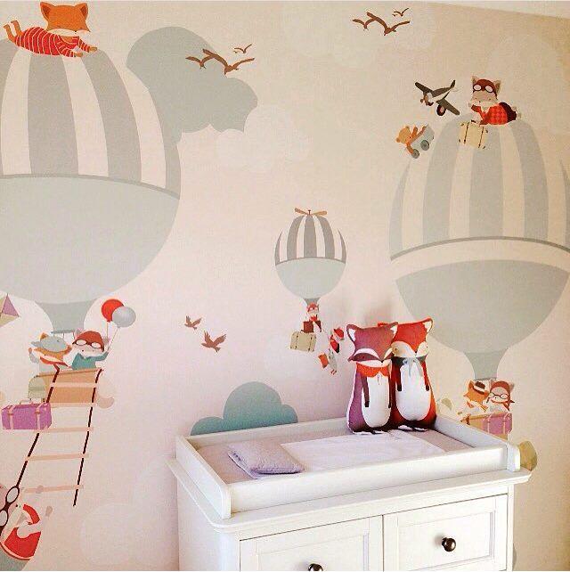 murale carta da parati balloon ride ii. Black Bedroom Furniture Sets. Home Design Ideas