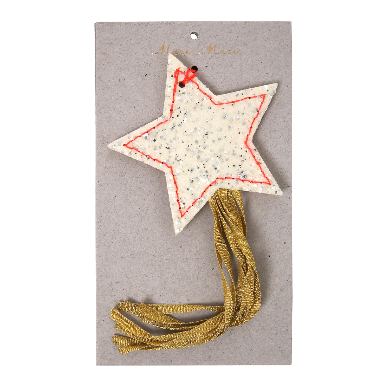 Stella Cadente Di Natale.Decorazione Albero Di Natale In Feltro Stella Cadente