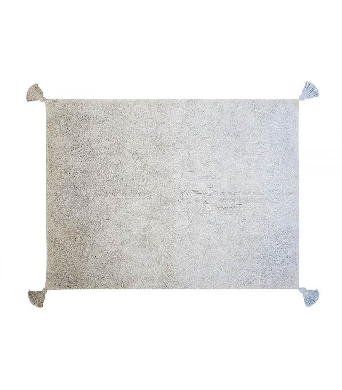 Tappeto lavabile degrad grigio blu chiaro - Tappeto grigio chiaro ...