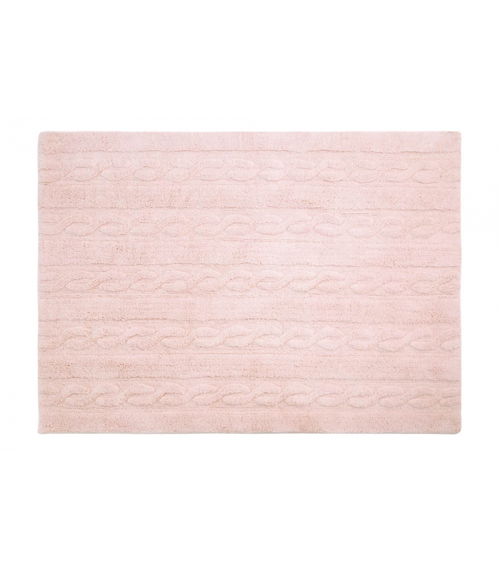 Trenzas Soft Pink Small Washable Rug