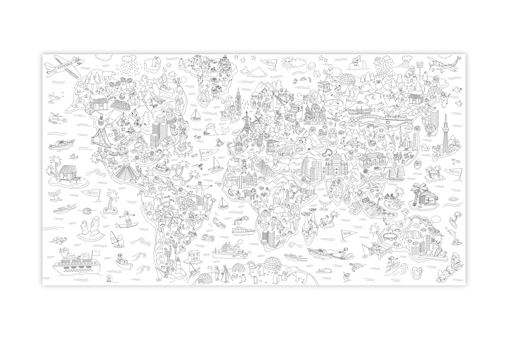 Playtime Didactic Atlas Giant Coloring Poster