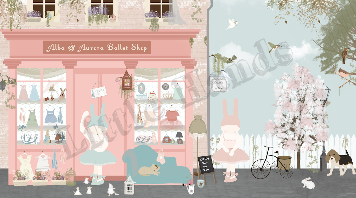 Decor Room Wallpaper Ballet Shop Mural Wallpaper