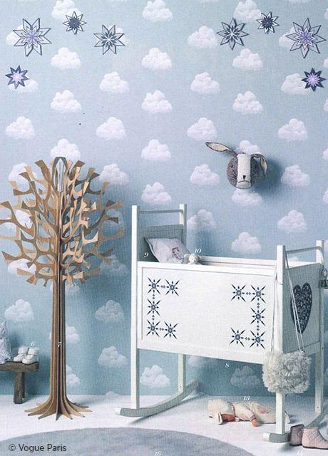 Carta da parati nuvole di cottone blu for Carta parati blu