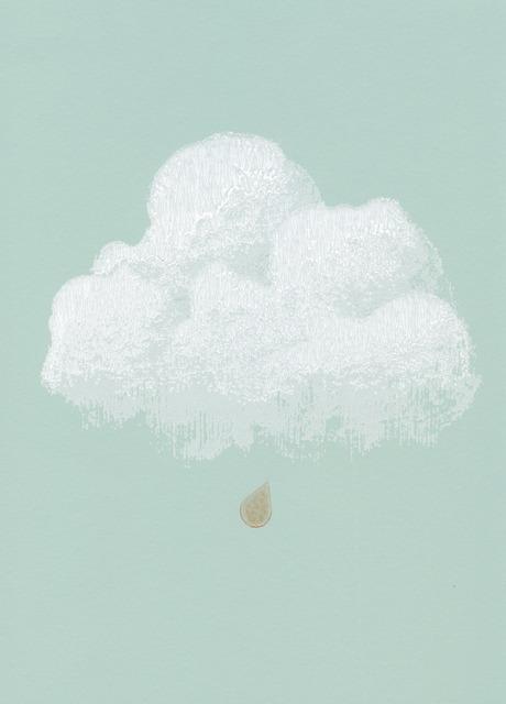Carta da parati nuvole di cottone verde for Carta da parati firenze