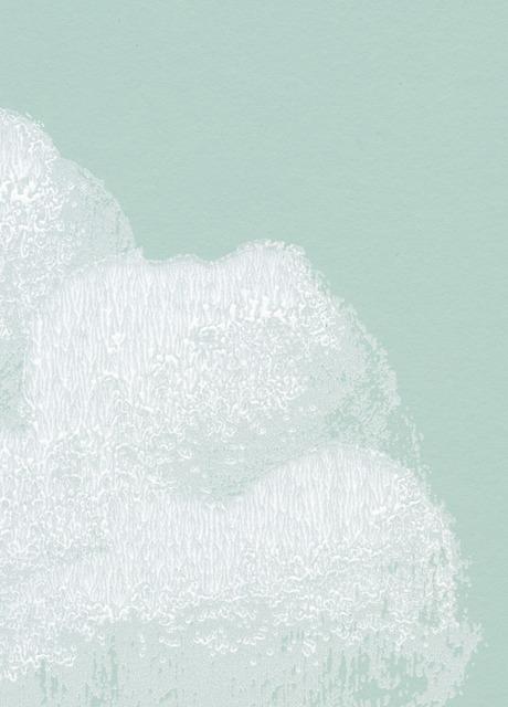Carta da parati nuvole di cottone verde for Carta parati verde