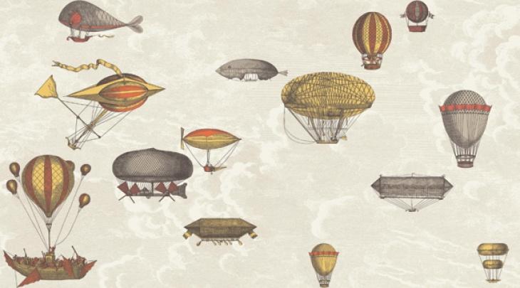 Carta da parati mongolfiere