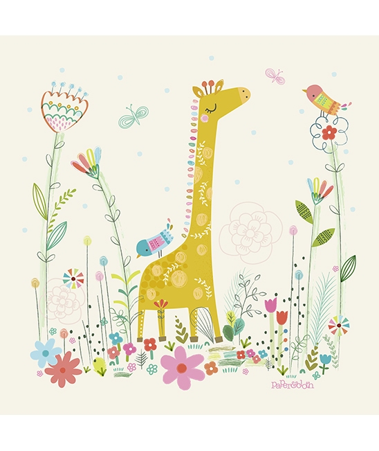 Safari giraffe wall art - Stickers girafe chambre bebe ...