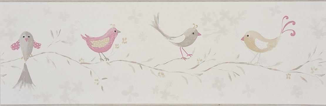 Bordi In Carta Da Parati.Bordo Carta Da Parati Uccellini