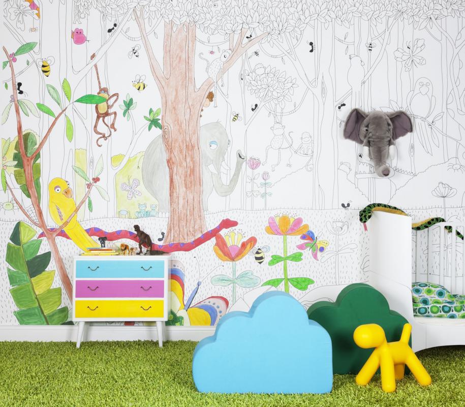 Jungle dudes wallpaper mural