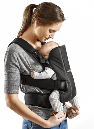 how to put on baby bjorn carrier