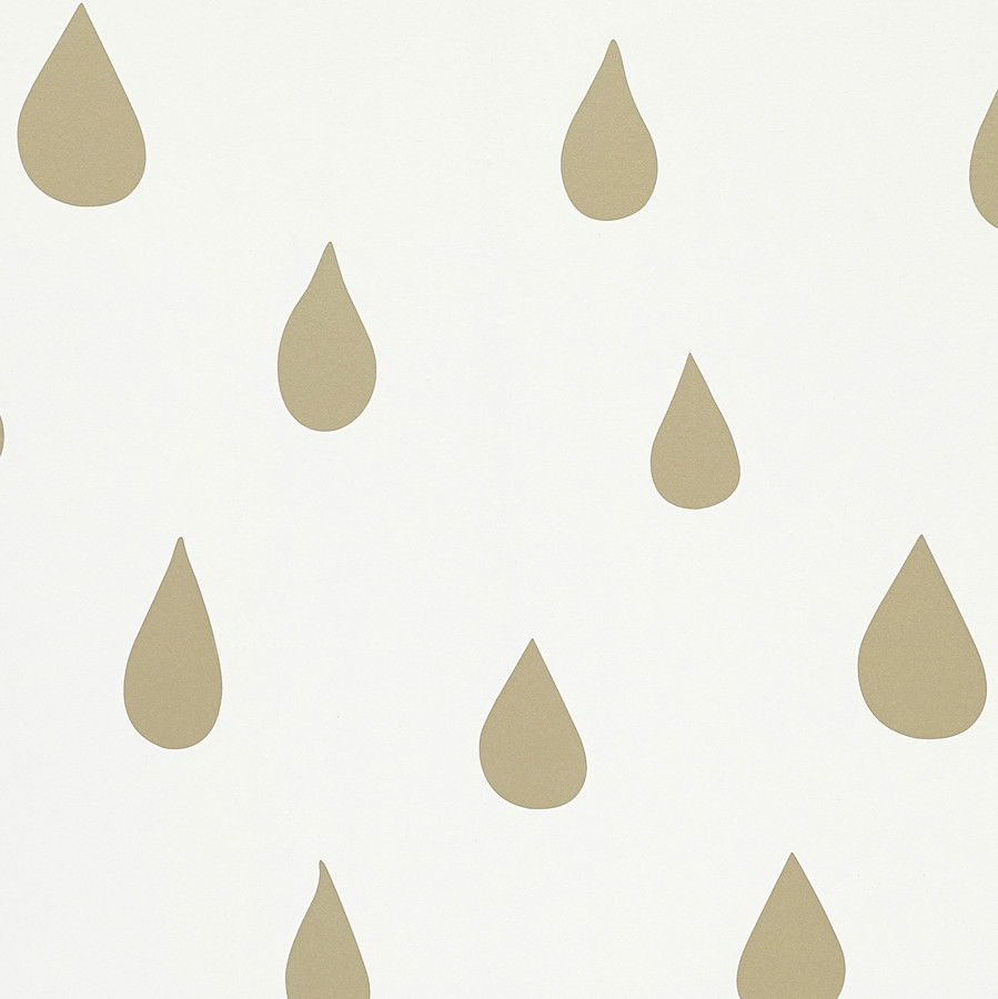 Gold Raindrops Wallpaper