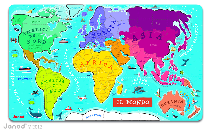 World Map Magnetic Puzzle