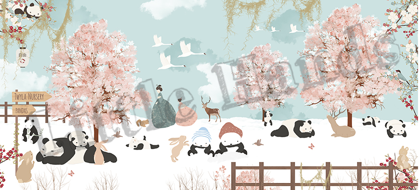 Winter In Japan Mural Wallpaper