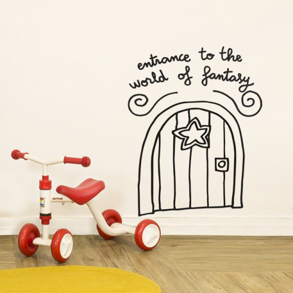 Entrance to the World of Fantasy Wall Sticker