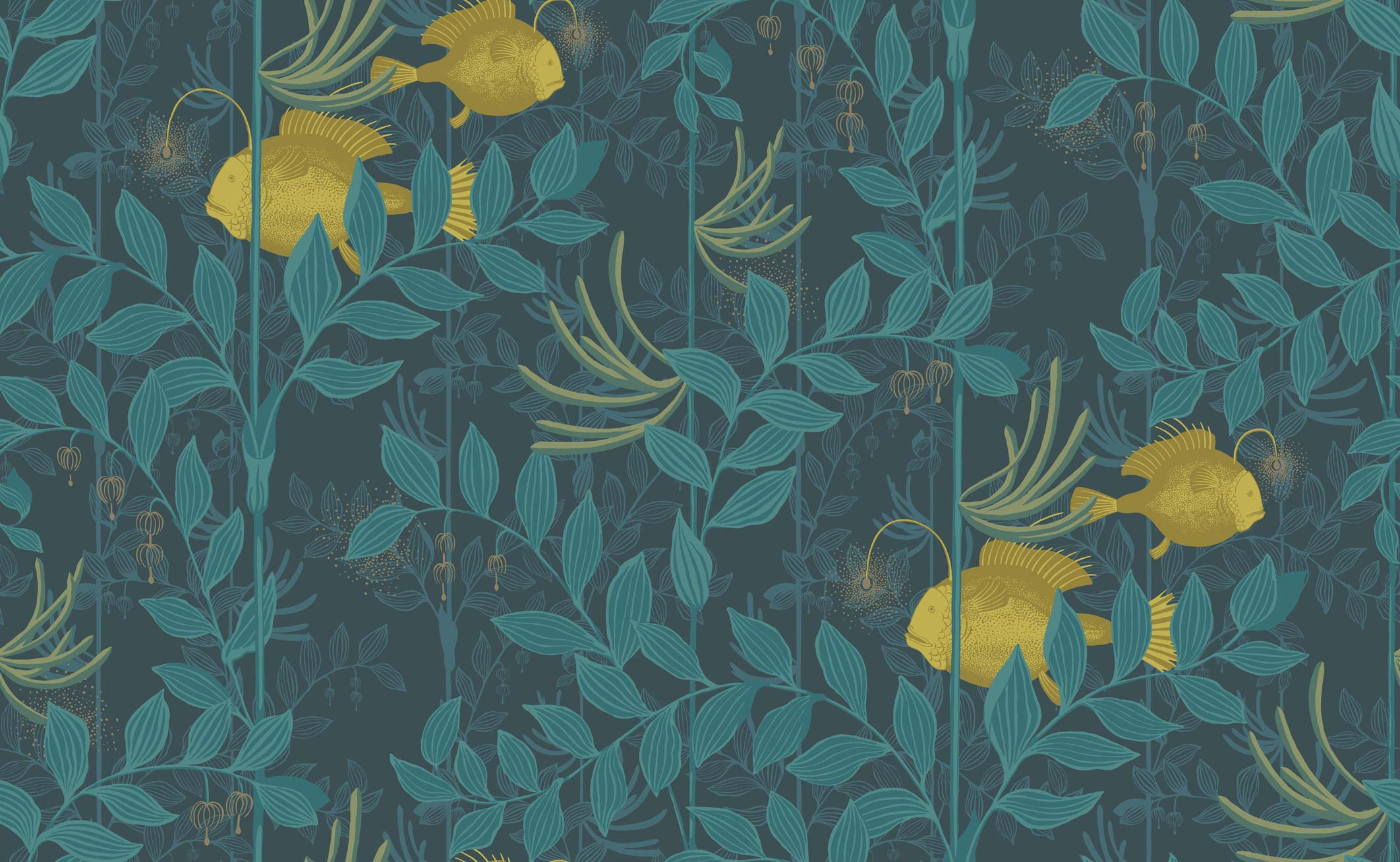 Nautilus Wallpaper Deep Indigo