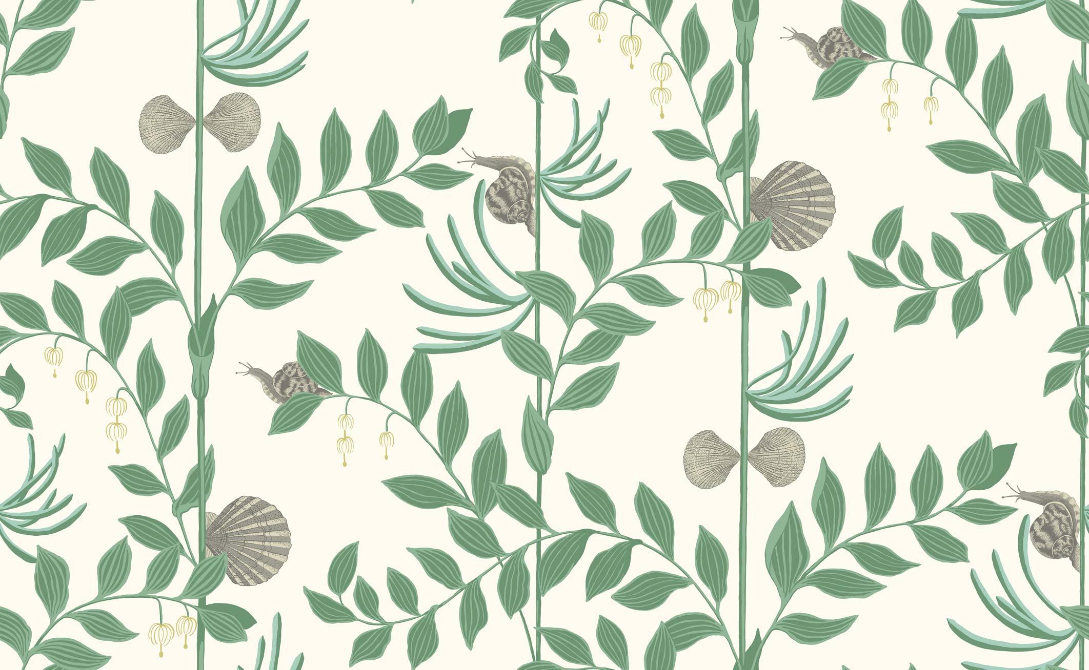 Secret Garden Wallpaper Emerald Green