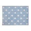 Tappeto Stelle Blu Bianco