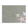 TThree Star Rug Grey Pink