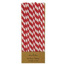 Red Party Straws from Meri Meri :: Baby Bottega