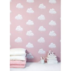 clouds wallpaper pink bartsch florence baby bottega