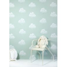 clouds wallpaper green florence baby bottega