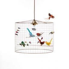 lampadario uccellini petit voliere baby bottega firenze