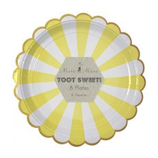 Toot Sweet Yellow Stripe Large Plates