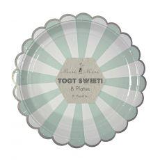 Piatti Grandi Toot Sweet Acqua Stripe