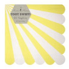 Toot Sweet Yellow Stripe Large Napkins