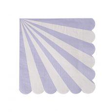 Lavender Striped Small Napkins