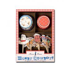 Set per Cupcakes Howdy Cowboy