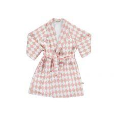 Pink Diamonds Jakarta Dressing Gown