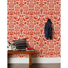 Otomi Red Wallpaper