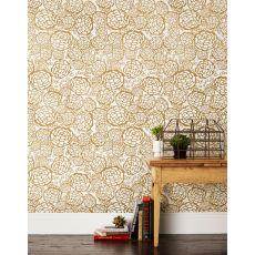 Petal Pusher Gold Wallpaper