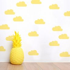 Yellow Clouds Wall Stickers