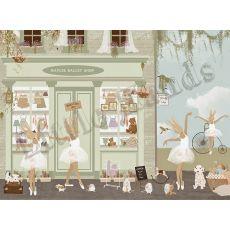 Murale Carta da Parati Ballet Shop II