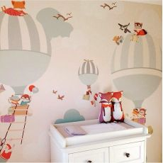 Balloon Ride Wallpaper Mural