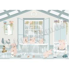 Little Pigs Wallpaper Murals