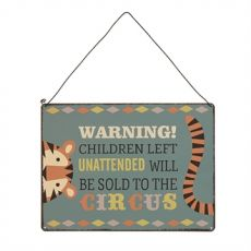 Warning Children to the Circus Sign