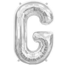 Silver Foil Letter G Balloon