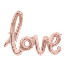 Palloncino Rose Gold Love