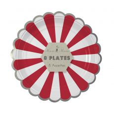 Red Stripe Plate from Meri Meri :: Christmas Collection :: Baby Bottega