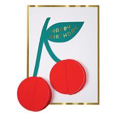 Cherries Honeycomb Greeting Card