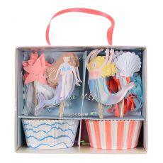 Kit per Cupcakes Sirena