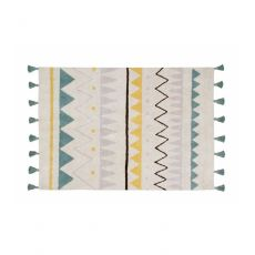 Azteca Natural - Vintage Blue Large Washable Rug