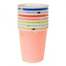 Bicchieri Stelle Jazzy Multicolore di Meri Meri :: acquista su Baby Bottega