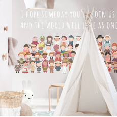 Children of the World Wallpaper Mural