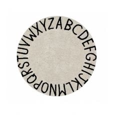 ABC Natural Round Washable Rug from Lorena Canals :: Baby Bottega