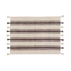 Elephant Grey Stripes Washable Rug